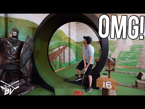 Download THE BEST MINI GOLF COURSE IN THE WORLD! - MINI GOLF HOLE IN ONE AND CRAZY HOLES! Mp4 baru