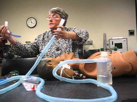 Aministration Of Bland Aerosol To Mask Trach Collar And