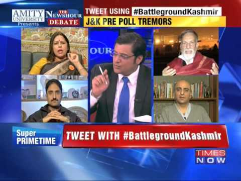 The Newshour Debate: Battleground Kashmir - Part 1 (18th Nov 2014)