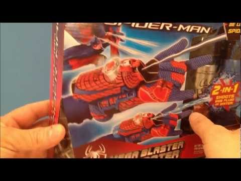 THE AMAZING SPIDER-MAN MOVIE MEGA BLASTER WEB SHOOTER TOY REVIEW