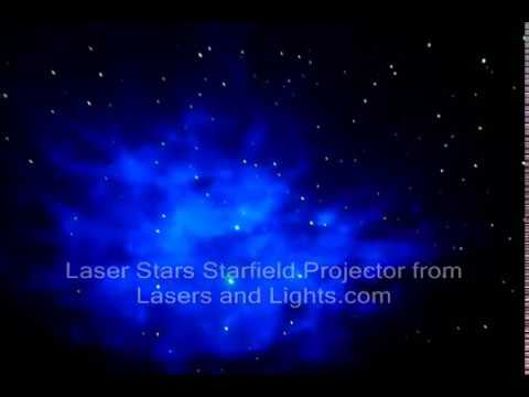 Laser Stars Starfield Projector demonstration video