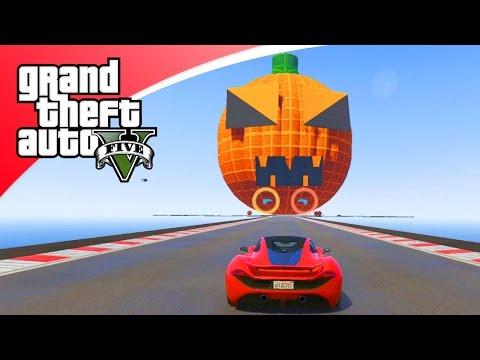 GTA V Online - HALLOWEEN POMPOEN RACE! (GTA 5 Funny Races)