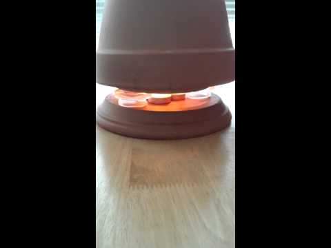 Tea light space heater