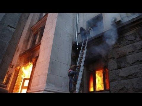 Ukraine clashes: US condemns Odessa violence as dozens die