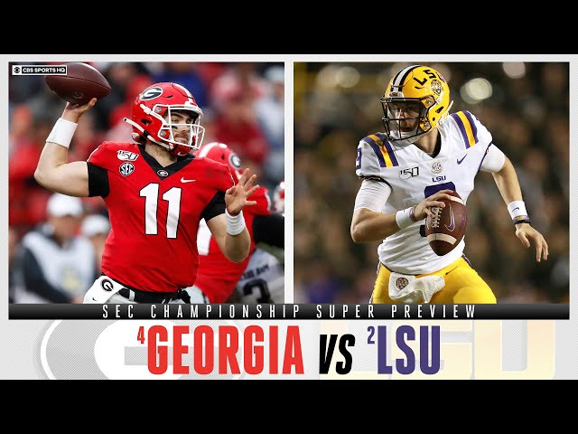 SEC Championship Super Preview 4 Georgia vs 2 LSU  CBS Sports HQ