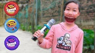 Trò Chơi Bé Học Hát Karaoke Và Ăn Kẹo HUBBA BUBBA - Bé Nhím TV - Đồ Chơi Trẻ Em Thiếu Nhi