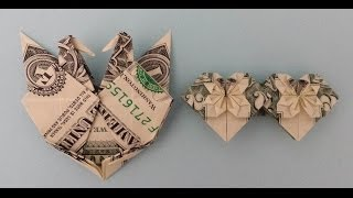 Valentine Origami Twin Heart & Heart with Two Birds