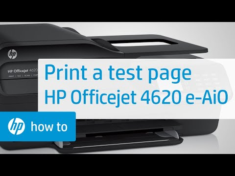 Printing a Test Page - HP Officejet 4620 e-All-in-One Printer