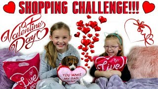 SISTERS BUY EACH OTHER OUTFITS! - $50 Shopping Challenge! - Valentine's Day Edition