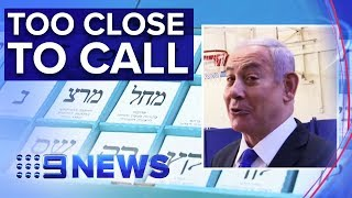 Future of Israeli PM Benjamin Netanyahu unclear in tight election | Nine News Australia