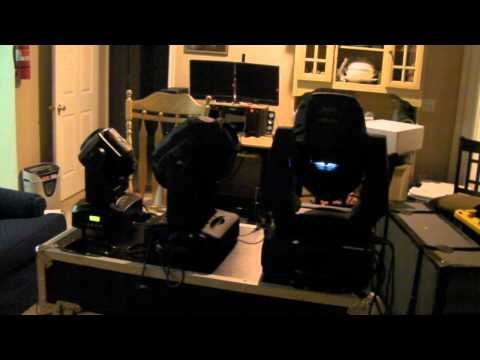 LED vs 250 Watt Discharge Elation Design Spot Chauvet Q Spot 260 LED. Blizzard Lighting Polaris.wmv