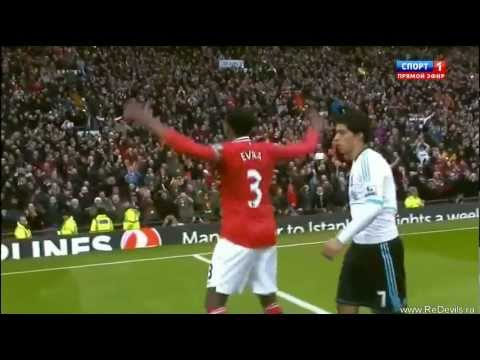 Patrice Evra Gloating In front Of Luis Suarez - Man UTD Vs Liv 2-1