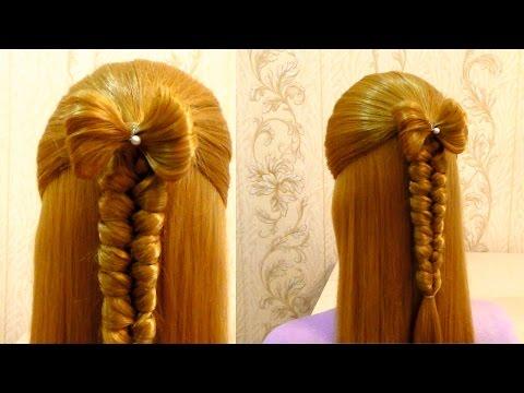 Красивые причёски в школу на каждый день для средних волос