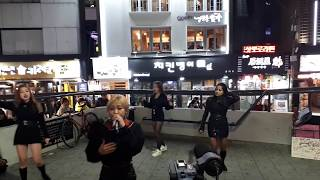 WOW, Z-GIRLS ENJOYING BUSKING WITH SO BEAUTIFUL VOICE & PASSION.