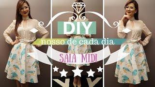 Aprenda fazer Saia Midi com prancha de cabelo   DIY Nosso de Cada Dia