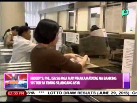 Moody's: PHL, isa sa mga may pinakamatatag na banking sector sa Southeast Asia  [6/30/15]