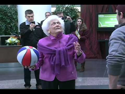 Barbara Bush Shoots Around With Dude Perfect