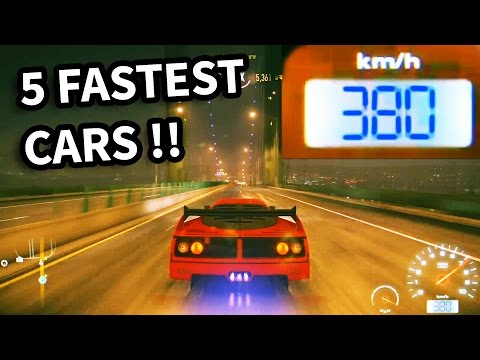 Need for Speed 2015 - Top 5 Fastest Cars