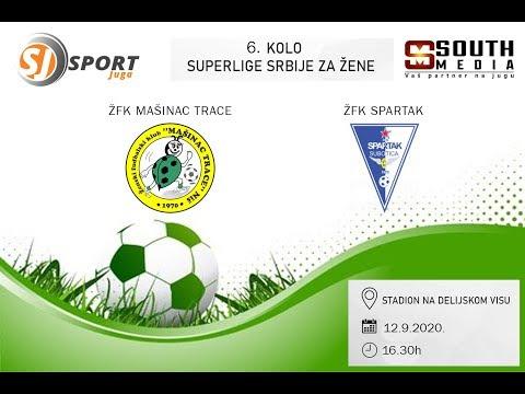 6. kolo Superlige Srbije za žene: ŽFK Mašinac Trace - ŽFK Spartak, Niš, 12.9.2020.