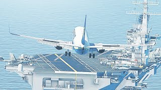 Landing A Boeing 737 On An Aircraft Carrier in X-Plane 11