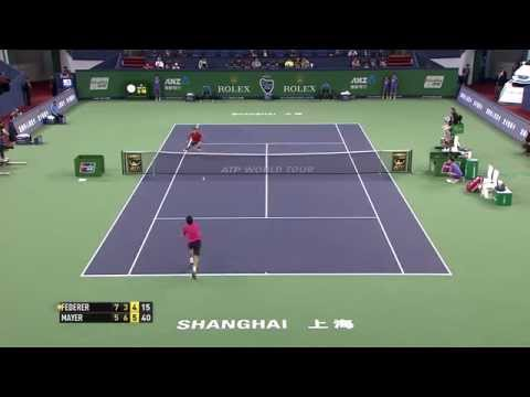 Roger Federer's Dramatic Match Point Save In Shanghai