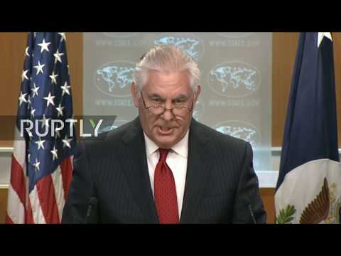 LIVE: Tillerson makes statement after being ousted
