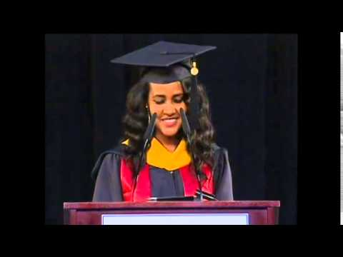 2014 Masters Commencement Address By Ethiopian Student Aden Abiye At University Of Maryland video