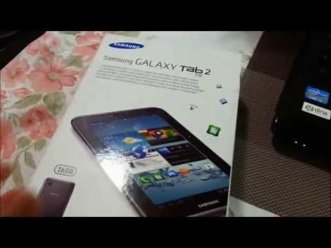 Unboxing Samsung Galaxy Tab 2 7.0