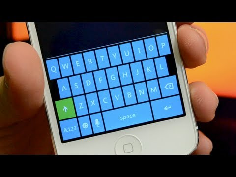 Windows Phone Keyboard Theme For iPhone 5/4S/4 & iPod Touch 5G/4G