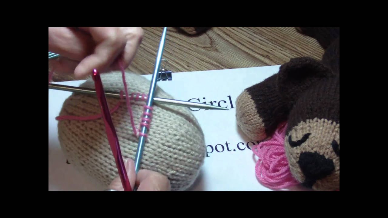 How to Knit: pick up stitches in the middle of your knitting project - YouTube