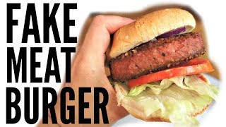 The Beyond Burger TASTE TEST | Vegan burger that looks like medium-rare beef