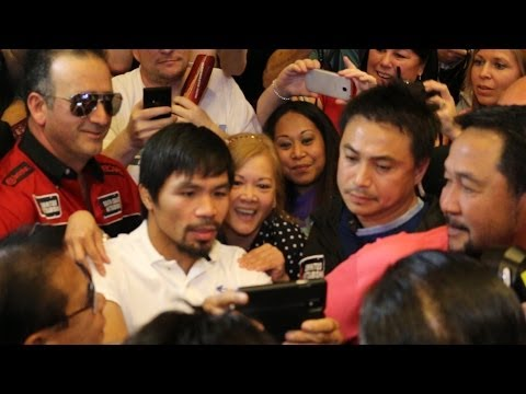 Pacquiao vs. Bradley 2- Pacquiao crazy Las vegas grand arrival video