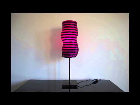 parametric | art - 'Purple Flow' 3D printed generative lampshade designed by bonooobong