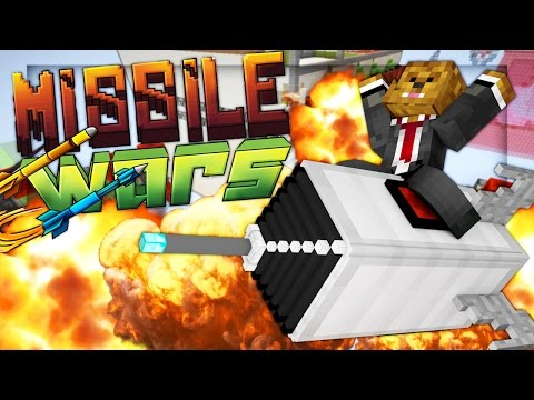 Minecraft MISSILE WARS MINIGAME - EPIC MISSILE DEFENSE GAME!