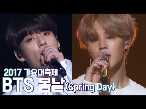 2017 KBS가요대축제 Music Festival - 방탄소년단 - Intro+봄날 (Intro+Spring Day - BTS). 20171229