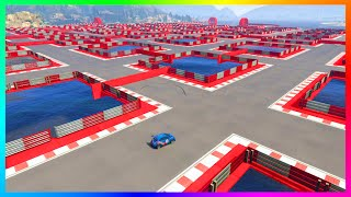 GTA 5 DLC ULTRA HARD UNRELEASED CUSTOM STUNT RACES - IMPOSSIBLE MAZE ESCAPE, INSANE SPIRALS & MORE!
