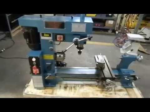 Enco 3-in-1 Multi Machine Lathe Mill Drill Demo