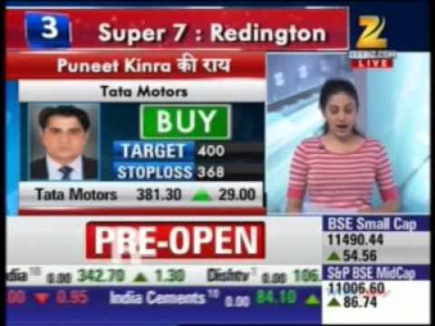 Mr. Puneet Kinra, Bonanza Portfolio sharing views on TATA Motors  -Zee Business Share Bazaar Live