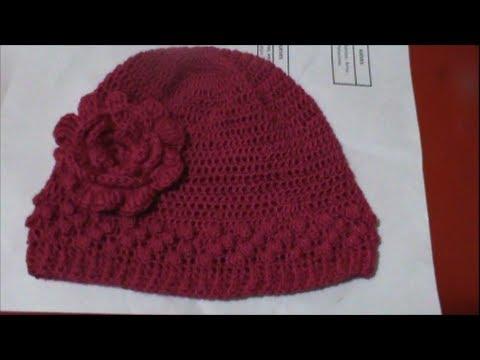 Como Tejer Gorro Para Niña en Crochet - YouTube