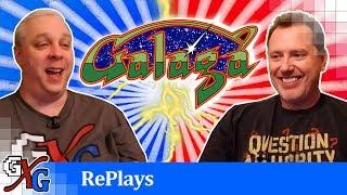 Galaga Arcade RePlay - I Got SMASHED Up Big Time!