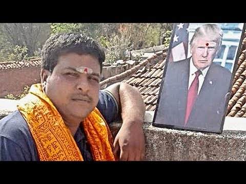 Indian Man Worships Trump while Hindu Nationalists Praise Him
