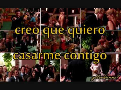 Glee - marry you (letra en español)
