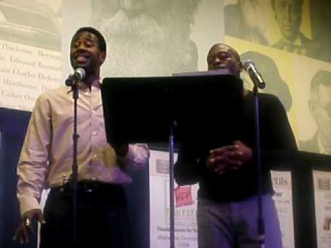 Titus Burgess and Marcus Paul James singing Scott Alans Blessing
