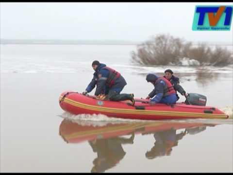 В реке Нура поднялся уровень воды