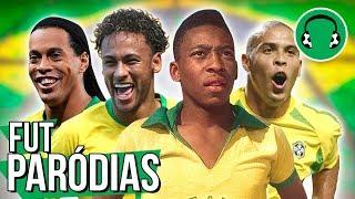 ♫ AS LENDAS DO FUTEBOL BRASILEIRO | Paródia Vamos pra Gaiola - Kevin o Chris Ft. FP do Trem Bala