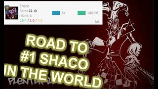 Road to Rank 1 Shaco [League of Legends] Full Gameplay (Road to Worldrecord) - Infernal Shaco