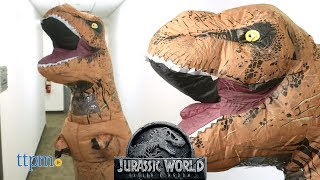 Jurassic World Tyrannosaurus Rex Inflatable Adult and Child Costumes from Rubie's Costume Co.