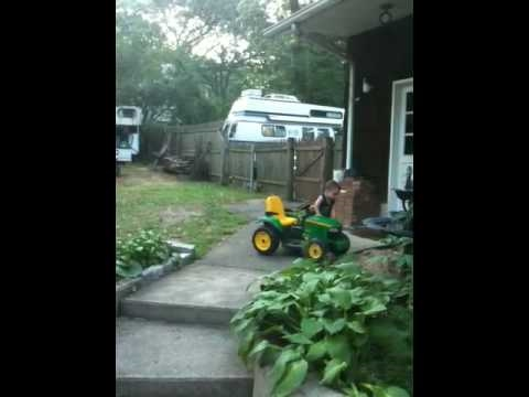 John Deere Toy Tractor Stunt video