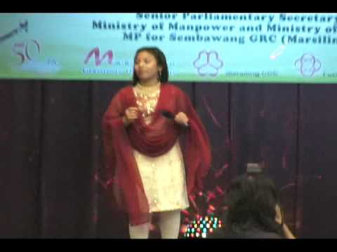 malay girl sing tamil song - allegra - 17-4-2010 , marsiling cc,