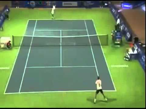 Tennis - Stanislas Wawrinka Vs Edouard-Roger Vasselin - 2012 ATP Chennai - 2nd Round.mp4
